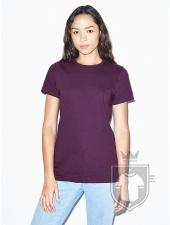 Camisetas American Apparel 2102W Lady color Eggplant :: Ref: 341
