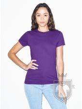 Camisetas American Apparel 2102W Lady color Purple :: Ref: 349