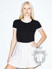 Camisetas American Apparel Ginger BB310W color  :: Ref: black-white