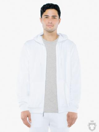 Sudaderas American Apparel F497 color white :: Ref: white