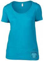 Camisetas Anvil Ring spun color Caribbean Blue :: Ref: caribbean-blue