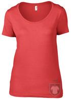 Camisetas Anvil Ring spun color Coral :: Ref: coral
