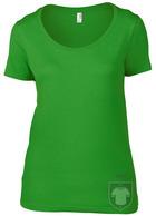 Camisetas Anvil Ring spun color Green Apple :: Ref: green-apple