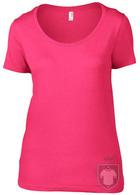 Camisetas Anvil Ring spun color Hot Pink :: Ref: hot-pink