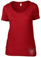 Camisetas Anvil Ring spun color Red :: Ref: red