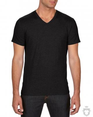 Camisetas Anvil Cuello V color Black :: Ref: black