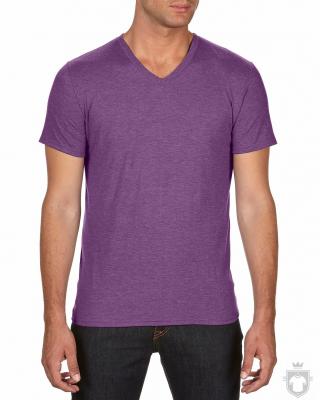 Camisetas Anvil Cuello V color Heather Aubergine :: Ref: heather-aubergine