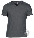 Camisetas Anvil Cuello V color Heather Dark Grey :: Ref: heather-dark-grey