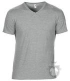 Camisetas Anvil Cuello V color Heather Grey :: Ref: heather-grey