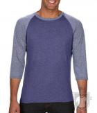 Camisetas Anvil Raglan 3/4 color Heather Blue/Heather Grey :: Ref: FY321