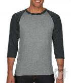 Camisetas Anvil Raglan 3/4 color Heather Grey/Heather Dark Grey :: Ref: FZ346