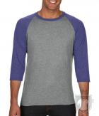 Camisetas Anvil Raglan 3/4 color Heather Grey/Heather Blue :: Ref: GJ346