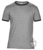 Camisetas Anvil Fashion Ringer color Heather grey - Heather dark grey :: Ref: heather-grey-heather-dark-grey
