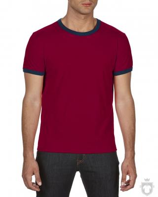 Camisetas Anvil Fashion Ringer color Independence Red - Navy :: Ref: independence-rednavy