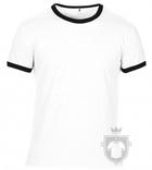 Camisetas Anvil Fashion Ringer color White - Black :: Ref: white-black