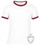 Camisetas Anvil Fashion Ringer color White - Red :: Ref: white-red