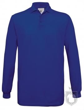 Polos BC Safran manga larga color Royal blue :: Ref: 450