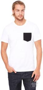 Camisetas Bella Pocket color White/Black :: Ref: 0001