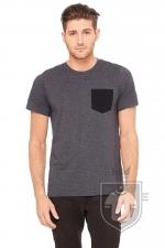 Camisetas Bella Pocket color Dark Grey Heather / Black :: Ref: 00088