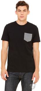 Camisetas Bella Pocket color Black/Deep Heather :: Ref: 00090