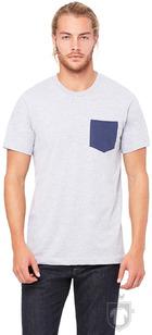 Camisetas Bella Pocket color Athletic heather - Navy :: Ref: 00106
