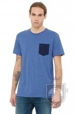 Camisetas Bella Pocket color Heather True Royal / Navy :: Ref: 00143