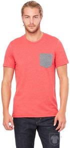 Camisetas Bella Pocket color Heather red - Deep heather :: Ref: 00162