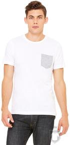 Camisetas Bella Pocket color White - Athletic Heather :: Ref: 0045