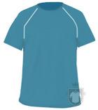 Camisetas Cam Técnica Tec 33B INF color Turquoise / White :: Ref: turquoise-white