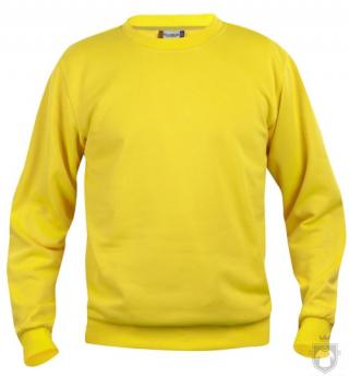 Sudaderas Clique Basic Roundneck color Yellow :: Ref: 10