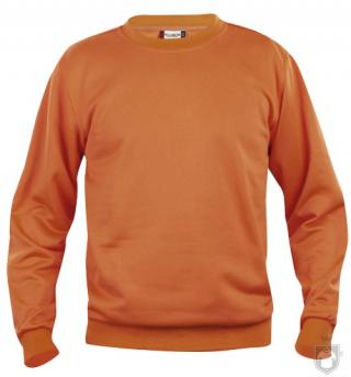 Sudaderas Clique Basic Roundneck color Orange :: Ref: 18