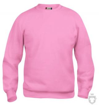 Sudaderas Clique Basic Roundneck color Bright pink :: Ref: 250