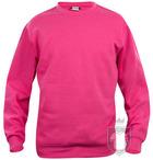 Sudaderas Clique Basic Roundneck color fuchsia :: Ref: 300