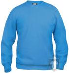 Sudaderas Clique Basic Roundneck color turquoise :: Ref: 54
