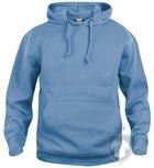Sudaderas Clique Basic Hoody color Light blue :: Ref: 57