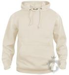 Sudaderas Clique Basic Hoody color Beige :: Ref: 815