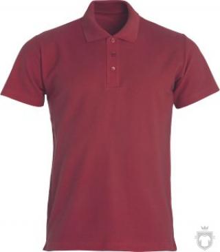Polos Clique Basic color maroon :: Ref: 38