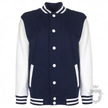 Sudaderas FDM Chaqueta Varsity Kids color Navy / White :: Ref: 252