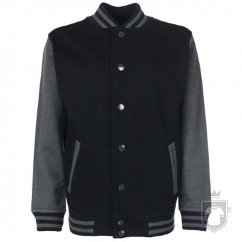Sudaderas FDM Chaqueta Varsity Kids color Black-Charcoal :: Ref: 37
