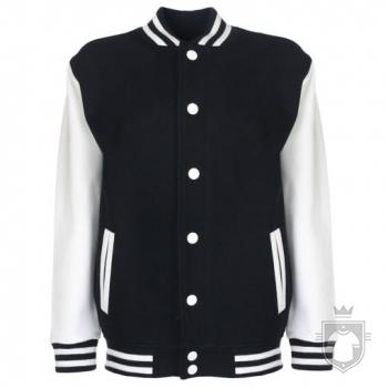 Sudaderas FDM Chaqueta Varsity Kids color Black-White :: Ref: 39