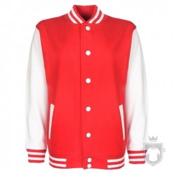 Sudaderas FDM Chaqueta Varsity Kids color Fire red-White :: Ref: 47