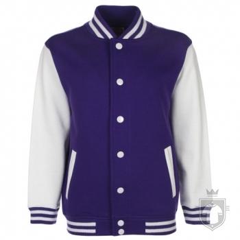 Sudaderas FDM Chaqueta Varsity Kids color Purple-White :: Ref: 59