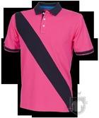 Polos Front Row Diagonal color Bright Pink - Navy :: Ref: brightpinknavy