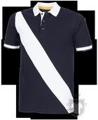 Polos Front Row Diagonal color Navy - White :: Ref: navywhite