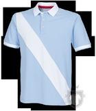 Polos Front Row Diagonal color Sky Blue - White :: Ref: skybluewhite
