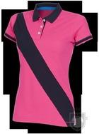 Polos Front Row Diagonal W color Bright Pink - Navy :: Ref: brightpinknavy