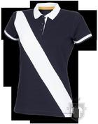 Polos Front Row Diagonal W color Navy - White :: Ref: navywhite
