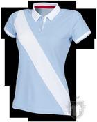 Polos Front Row Diagonal W color Sky Blue - White :: Ref: skybluewhite