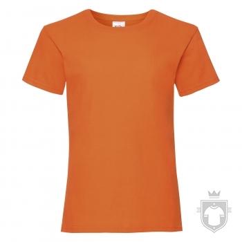 Camisetas Fruit of the Loom Value niña K color Orange :: Ref: 44