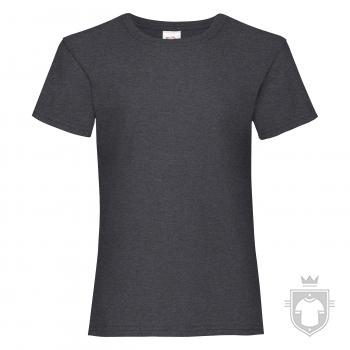 Camisetas Fruit of the Loom Value niña K color Dark Heather Grey :: Ref: HD